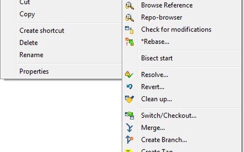 Скриншот 1 программы TortoiseGit
