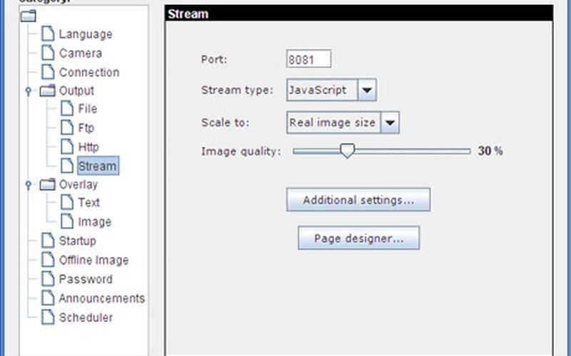 Скриншот 1 программы Yawcam