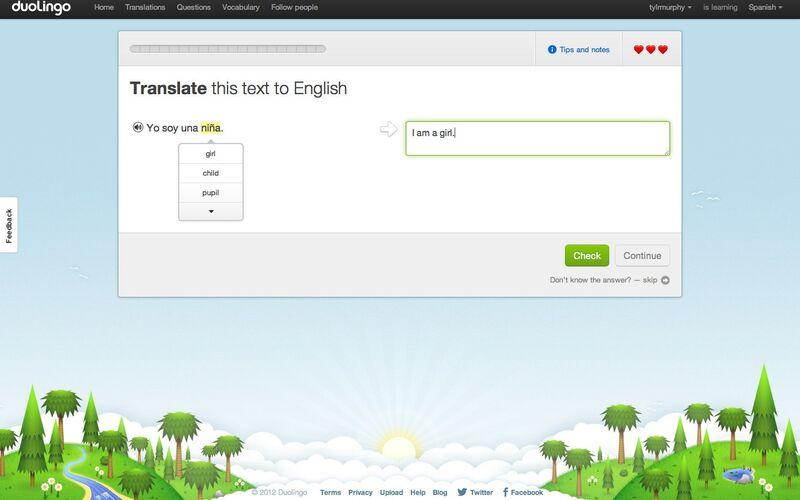 Скриншот 1 программы Duolingo