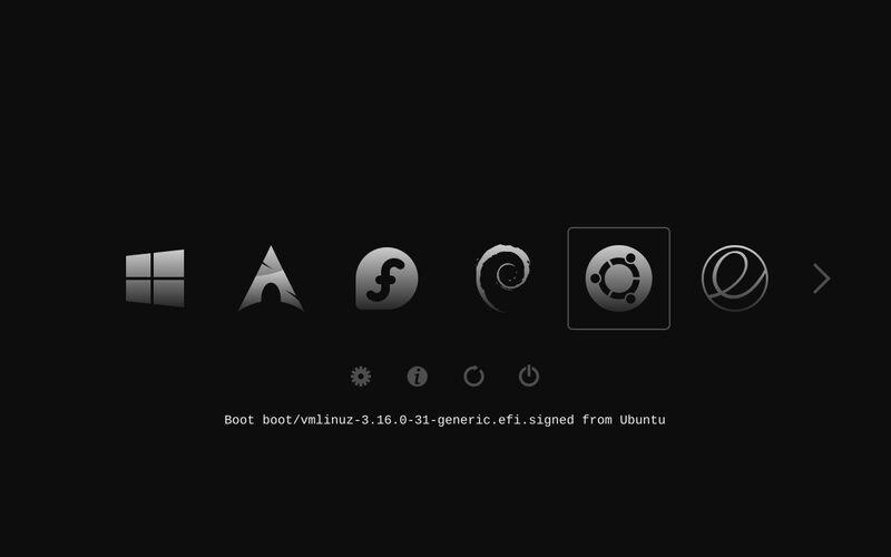 Скриншот 1 программы rEFInd