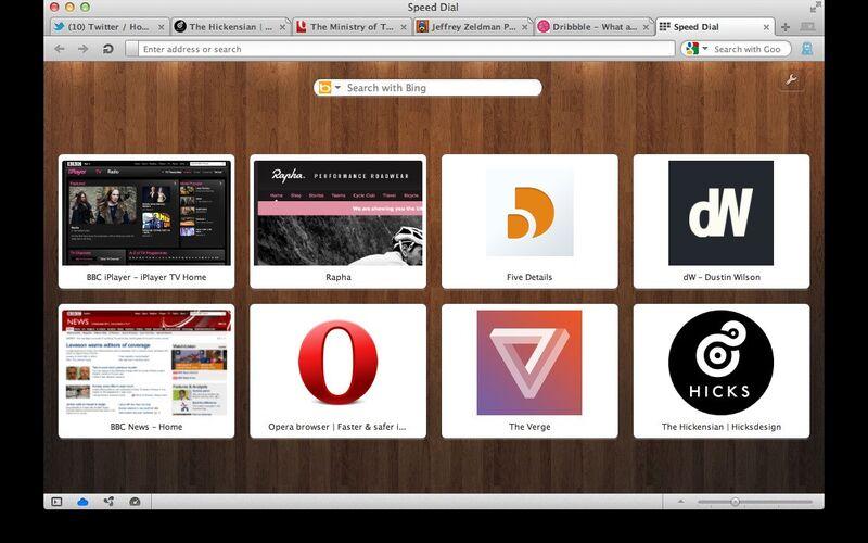Скриншот 1 программы Opera Speed Dial