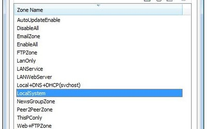 Скриншот 1 программы Windows 10 Firewall Control