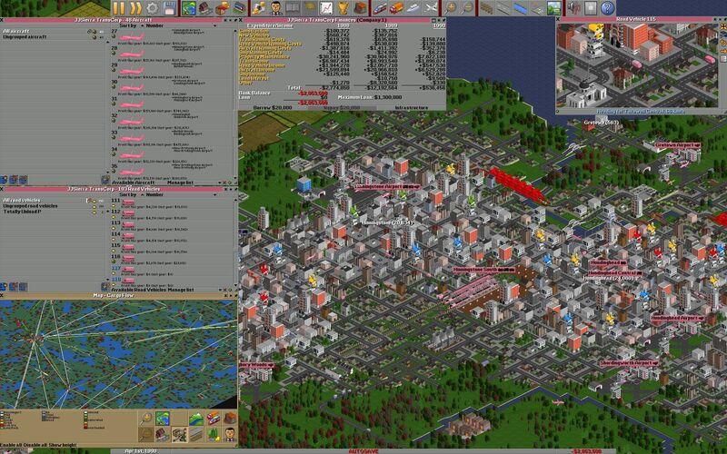 Скриншот 1 программы OpenTTD