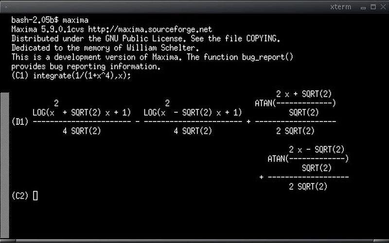 Скриншот 1 программы Maxima