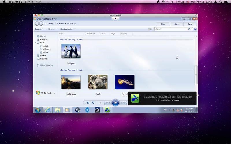 Скриншот 1 программы Splashtop Remote Desktop