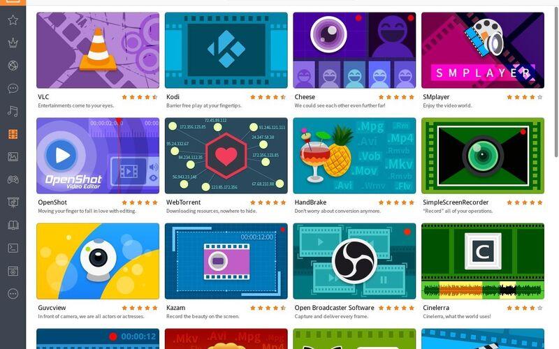 Скриншот 1 программы Deepin Software Center