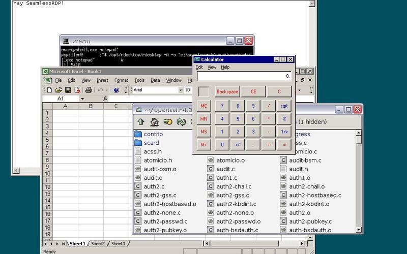 Скриншот 1 программы rdesktop