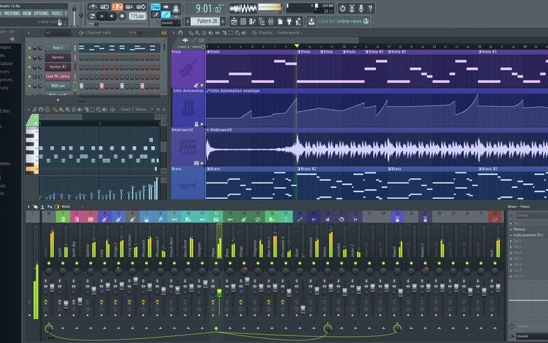 Скриншот 1 программы FL Studio