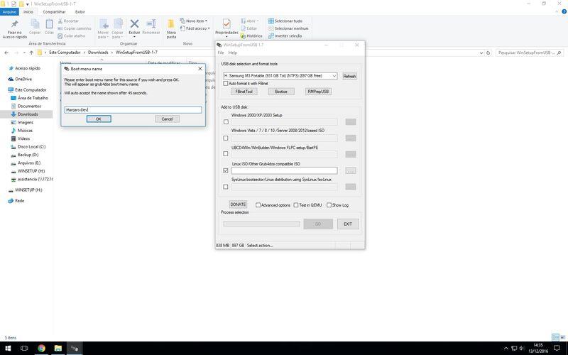 Скриншот 1 программы WinSetupFromUSB