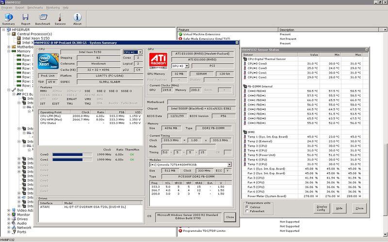 Скриншот 1 программы HWiNFO (32/64)