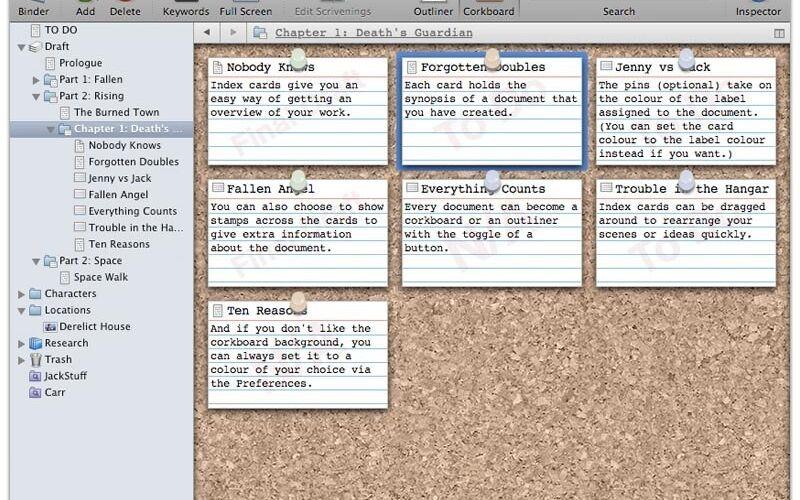 Скриншот 1 программы Scrivener