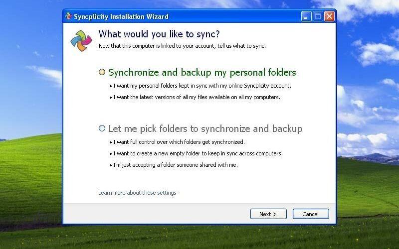 Скриншот 1 программы Syncplicity