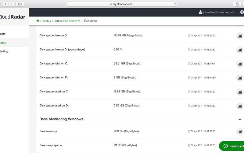 Скриншот 1 программы Cloudradar