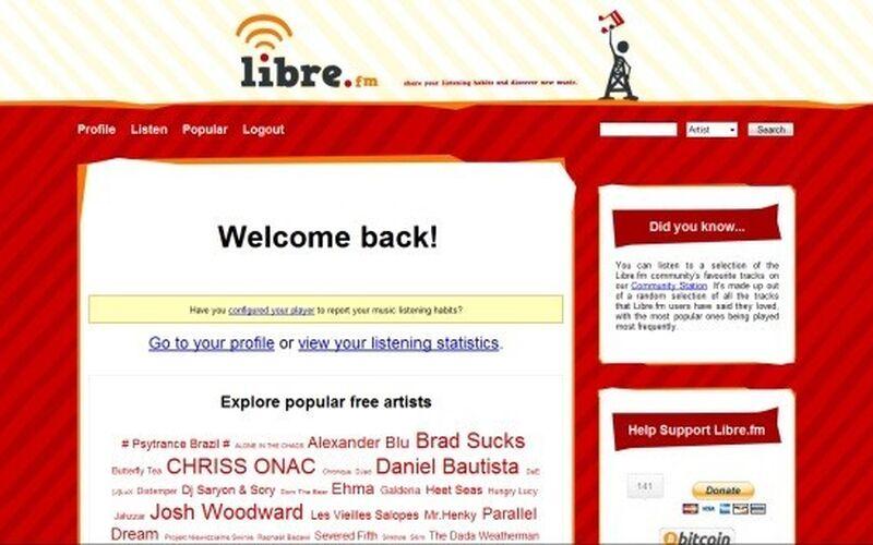 Скриншот 1 программы Libre.fm