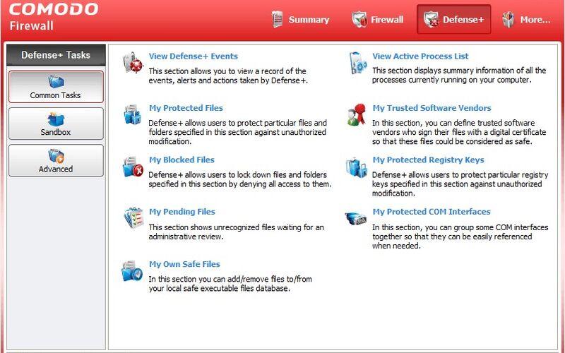 Скриншот 1 программы Comodo Firewall