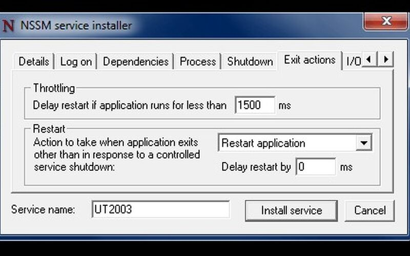 Скриншот 1 программы NSSM - The Non-Sucking Service Manager