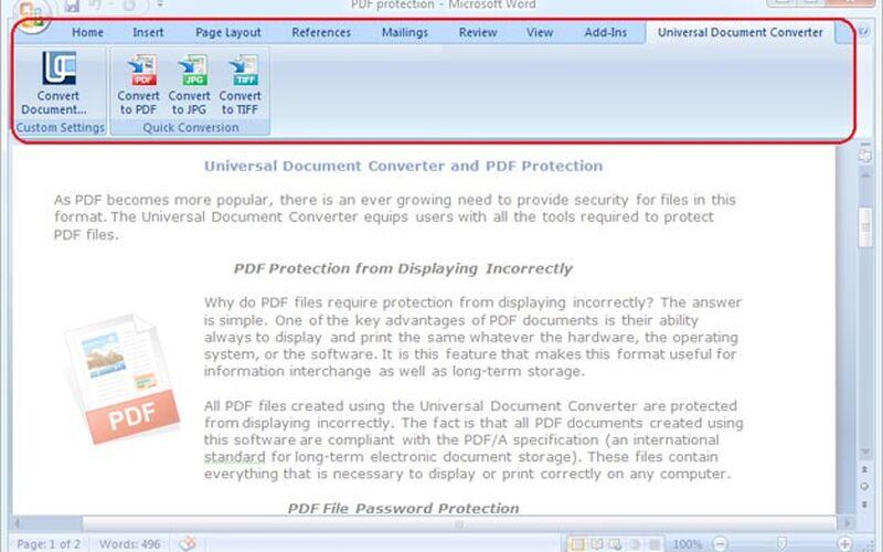 Скриншот 1 программы Universal Document Converter