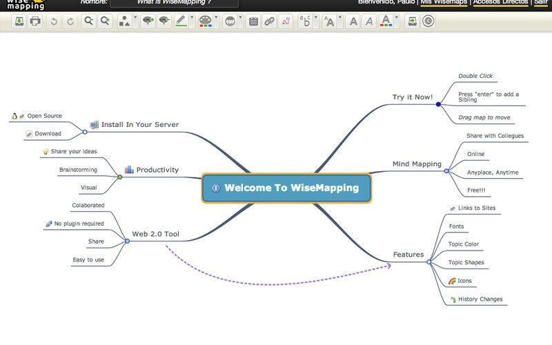 Скриншот 1 программы WiseMapping