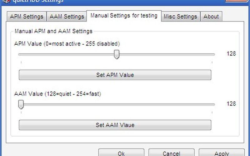 Скриншот 1 программы quietHDD