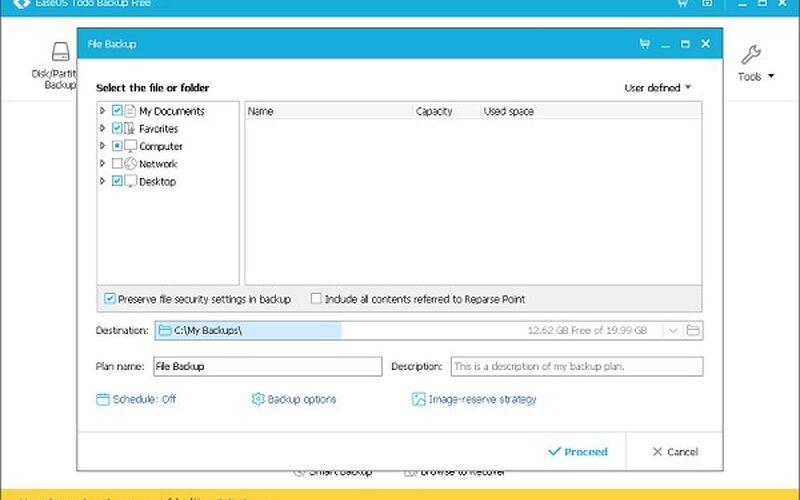Скриншот 1 программы EaseUS ToDo BackUp