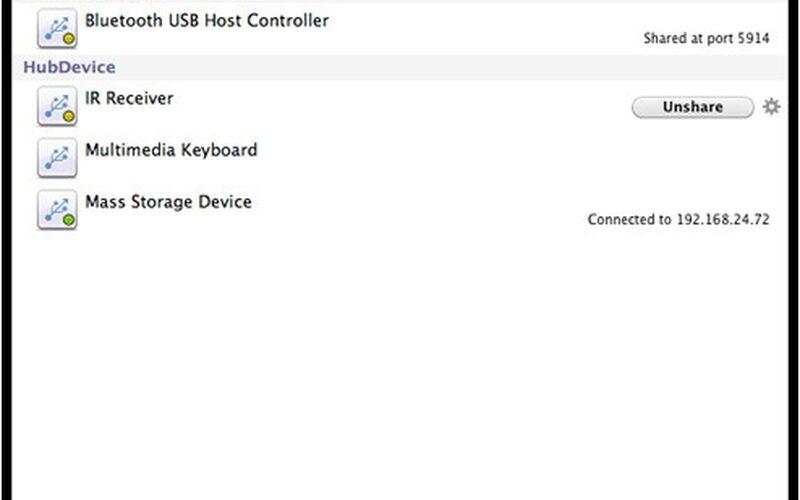 Скриншот 1 программы USB Network Gate
