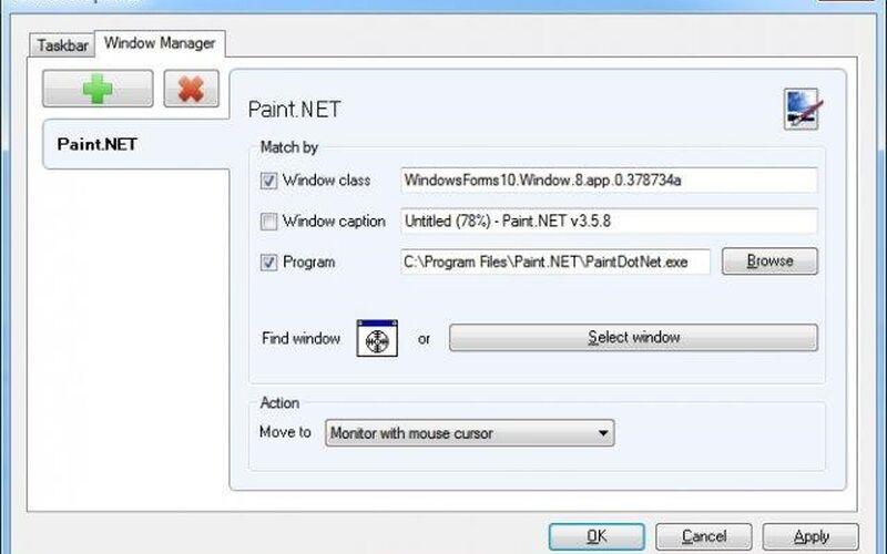 Скриншот 1 программы Dual Monitor Taskbar