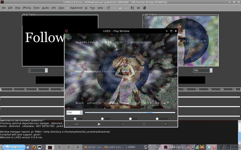 Скриншот 1 программы LiVES