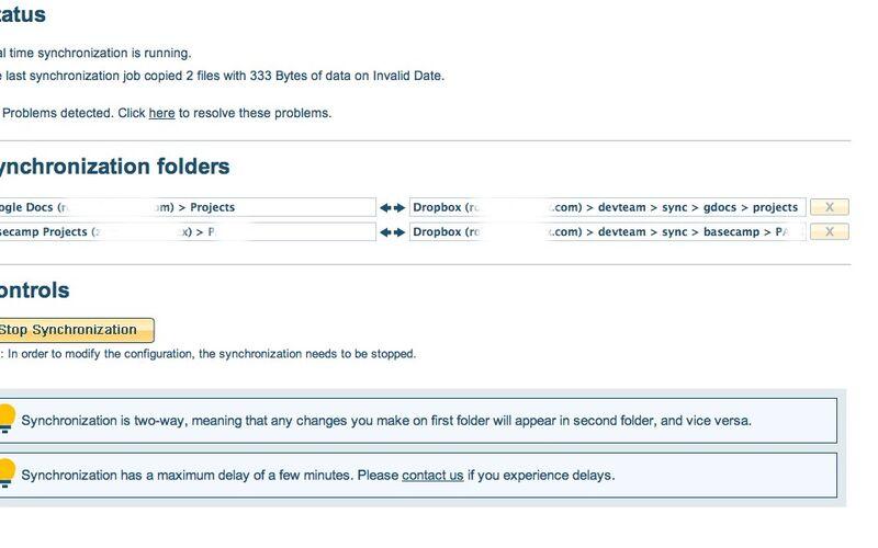 Скриншот 1 программы CloudHQ