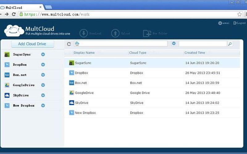 Скриншот 1 программы MultCloud