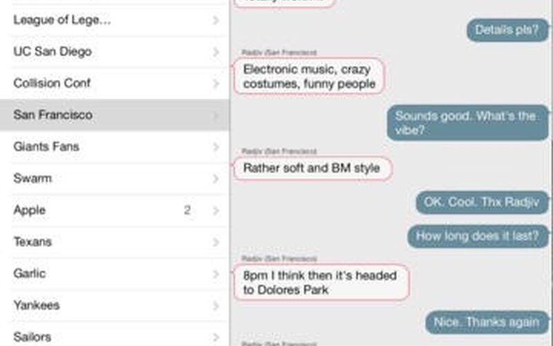 Скриншот 1 программы FireChat
