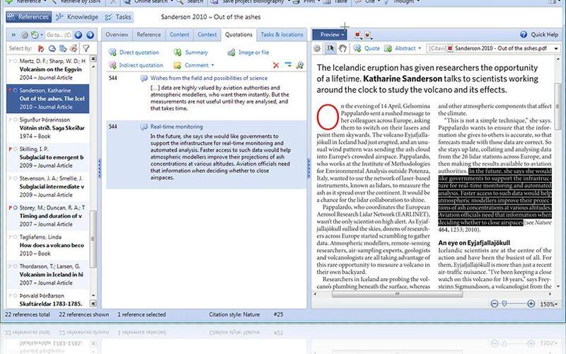 Скриншот 1 программы Citavi
