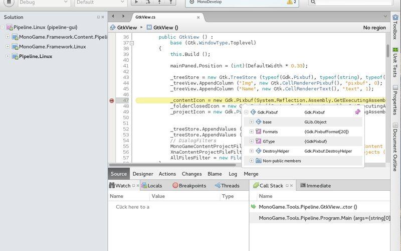 Скриншот 1 программы MonoDevelop