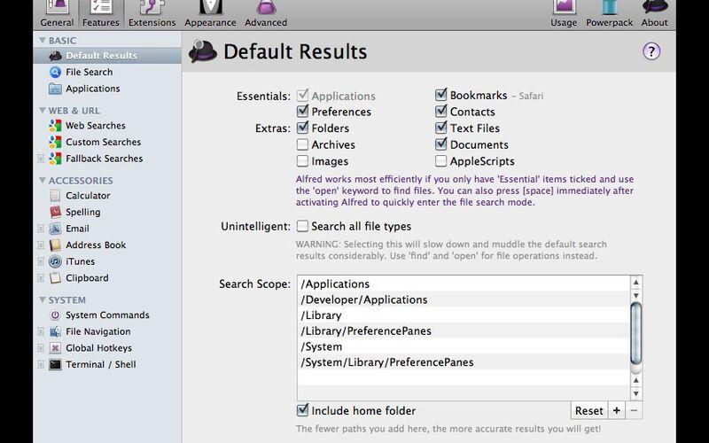 Скриншот 1 программы Alfred