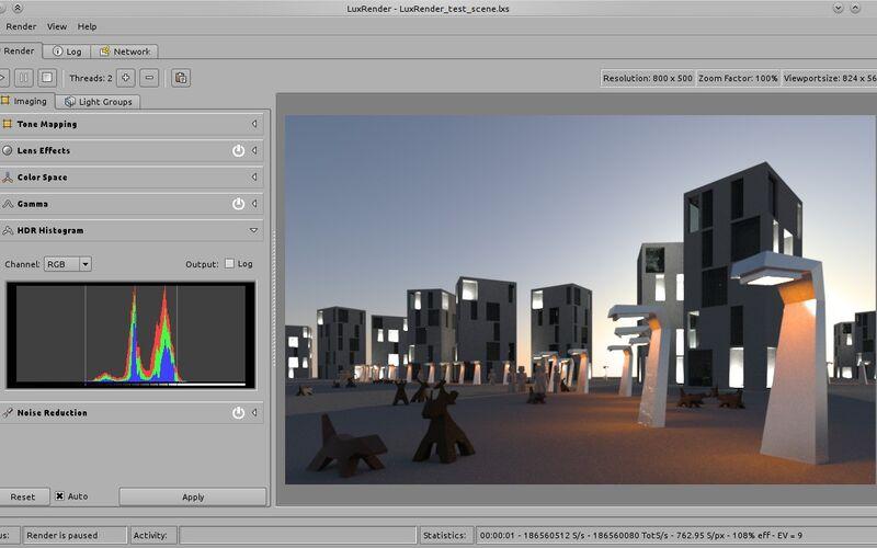 Скриншот 1 программы LuxRender