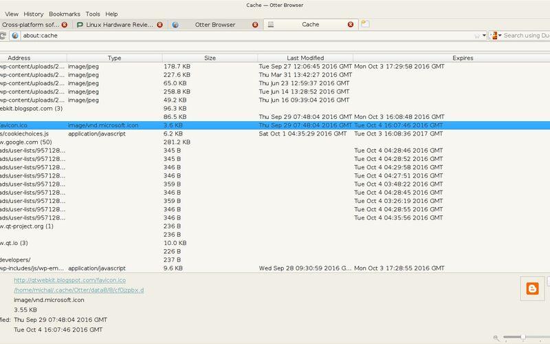 Скриншот 1 программы Otter Browser