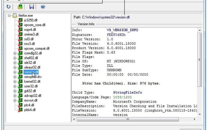 Скриншот 1 программы PE Explorer