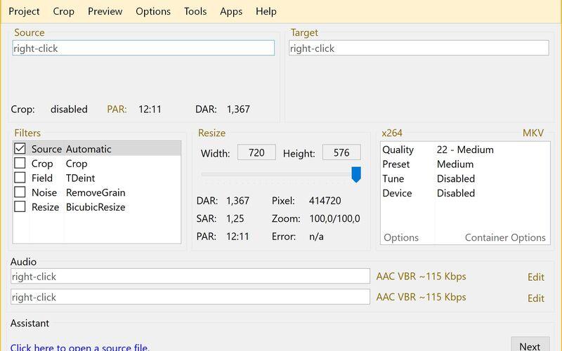 Скриншот 1 программы StaxRip
