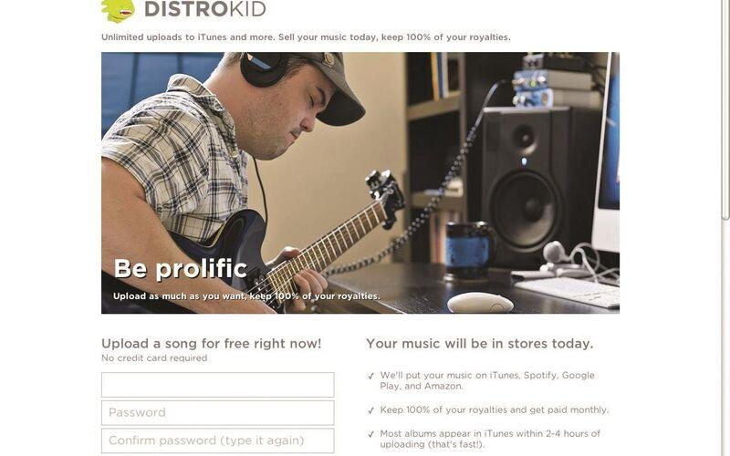 Скриншот 1 программы DistroKid