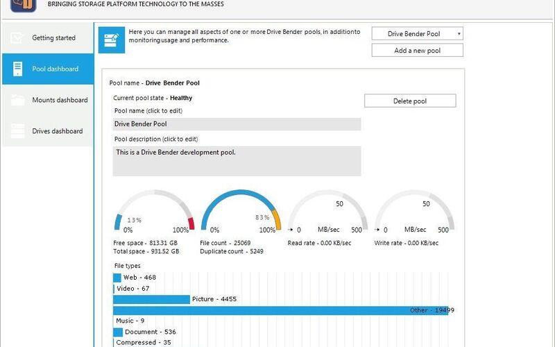 Скриншот 1 программы Drive Bender
