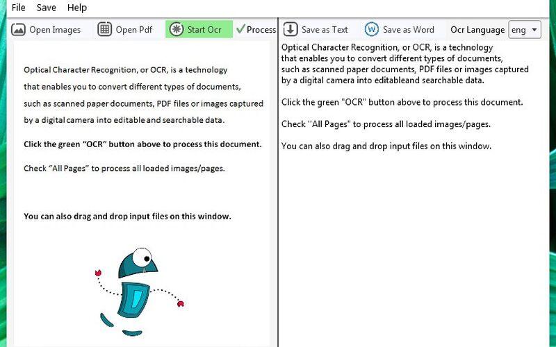 Скриншот 1 программы (a9t9) Free OCR Software