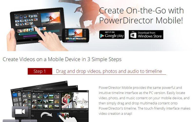Скриншот 1 программы Cyberlink PowerDirector
