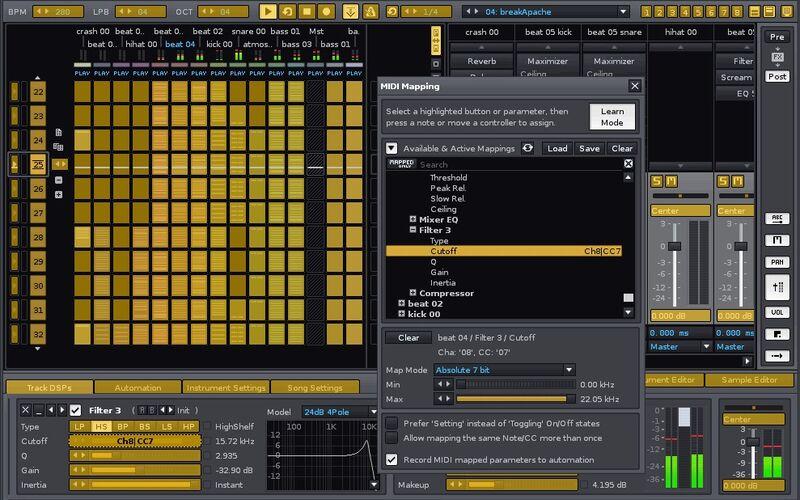 Скриншот 1 программы Renoise