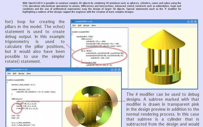 Скриншот 1 программы OpenSCAD