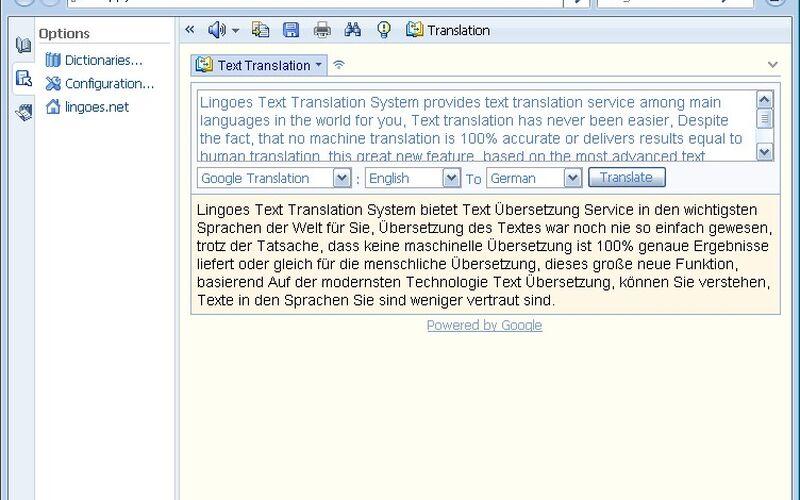 Скриншот 1 программы Lingoes