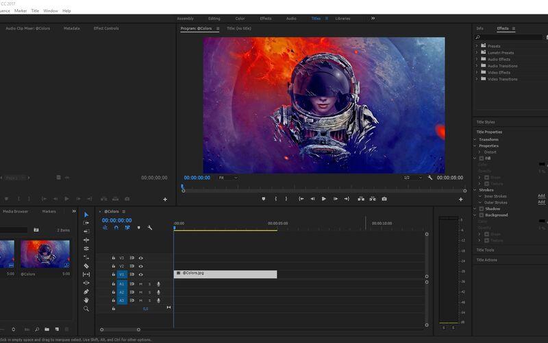 Скриншот 1 программы Adobe Premiere Pro