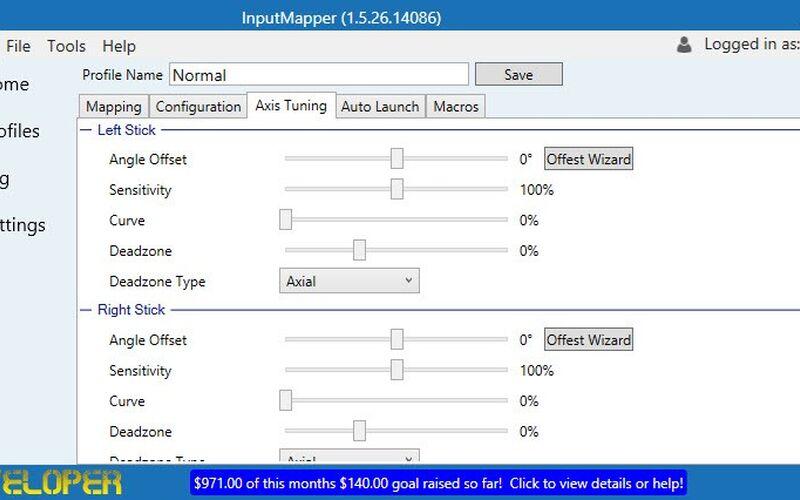 Скриншот 1 программы InputMapper