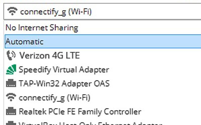 Скриншот 1 программы Connectify Hotspot