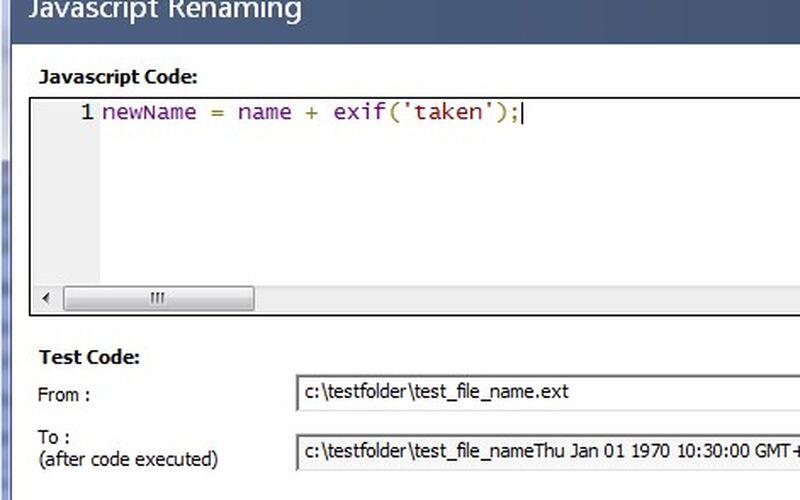 Скриншот 1 программы Bulk Rename Utility