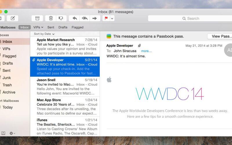 Скриншот 1 программы Apple Mail