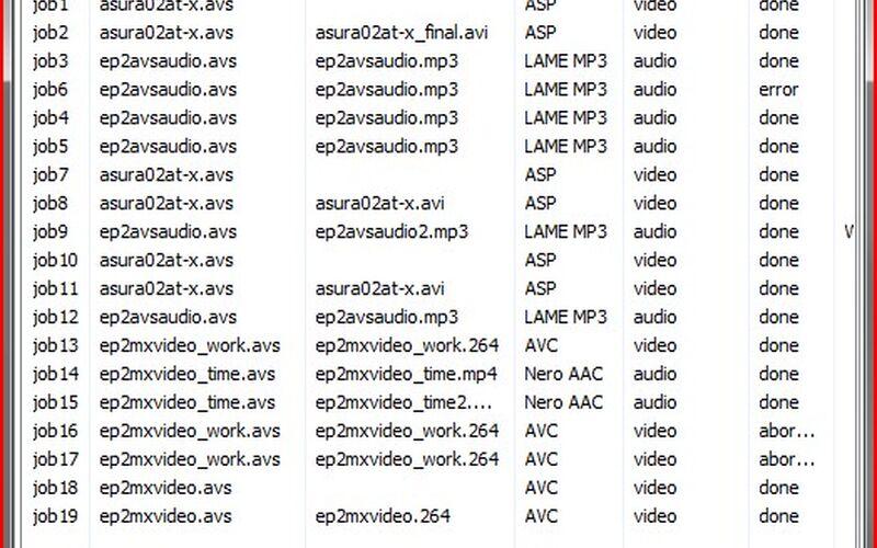 Скриншот 1 программы MeGUI
